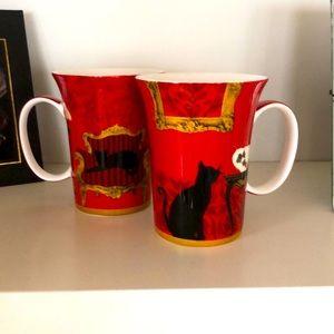 Pair McIntosh China Mugs